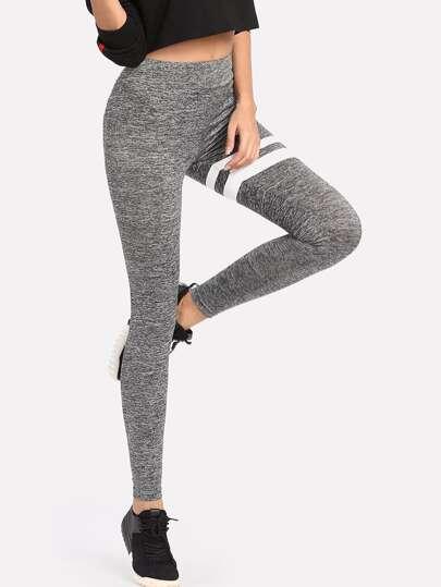 Leggings tricoté imprimé rayure