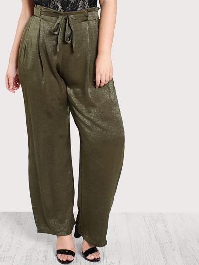 Wide Leg Side Pocket Pants OLIVE