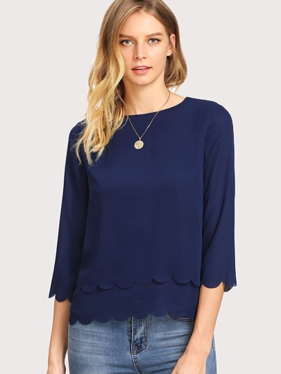 Scalloped Double Layer Top