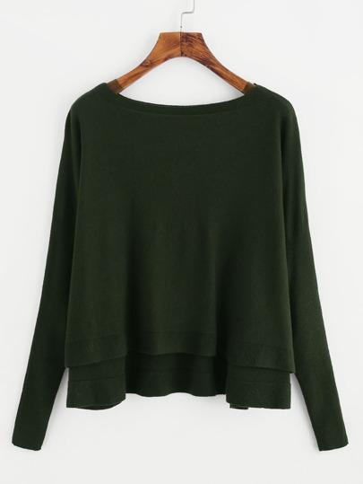 High Low Dolman Sweater