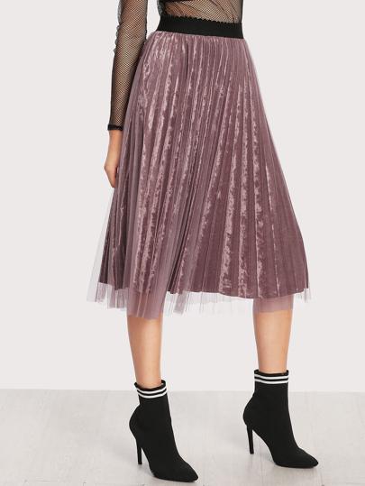 Falda de terciopelo de malla
