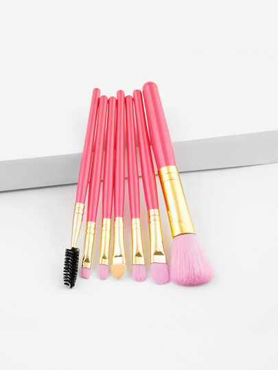 Two Tone Handle Makeup Brush 7pcs