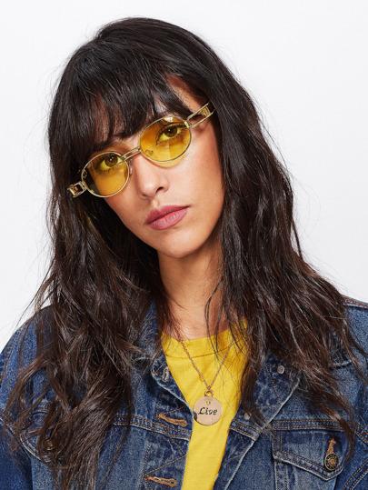 Double Bridge Metal Frame Sunglasses