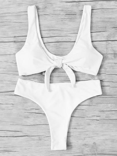 Ensemble de Bikini avec nœud avant