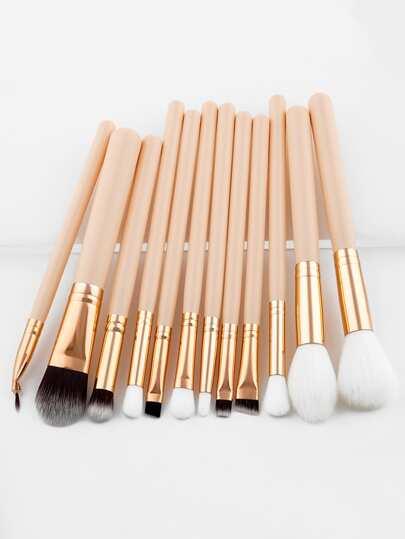 12 piezas de pinceles de maquillaje