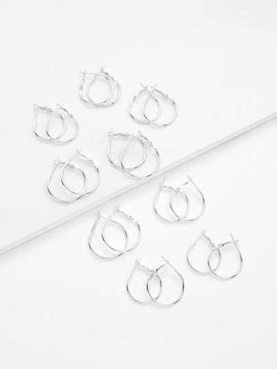 Mixed Size Hoop Earring Set