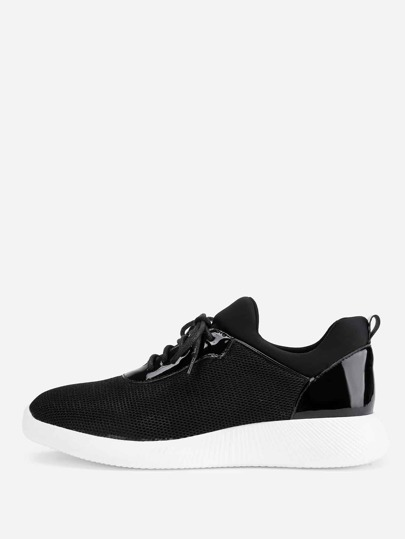 Zapatillas slip on con malla