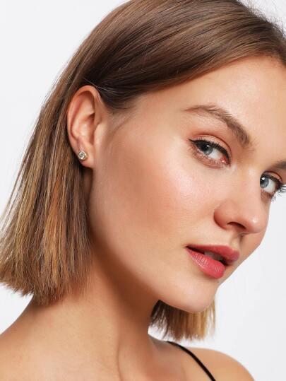 Delicate Rhinestone Stud Earrings