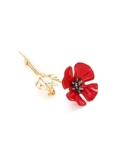 Broche design de fleur 1 pièce