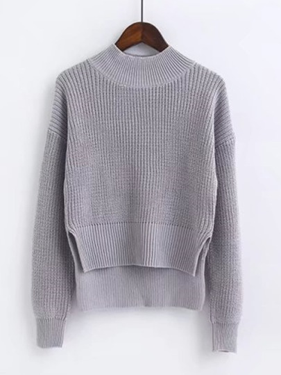Suéter irregular de cuello alto