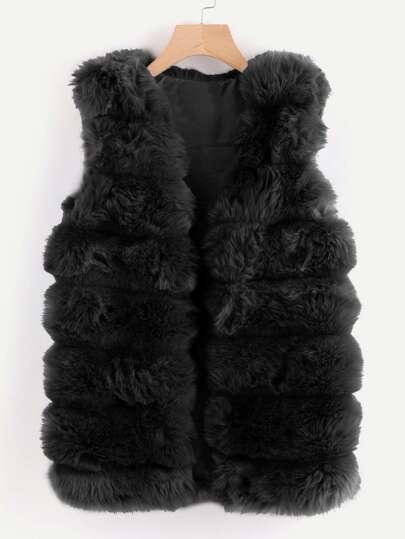Cappotto veste in pelliccia sintetica