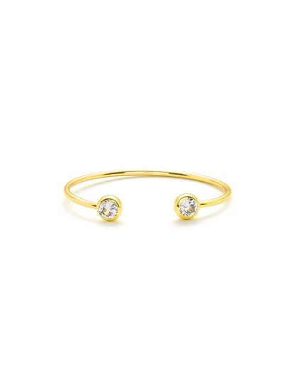Brazalete con diseño de diamante de imitación