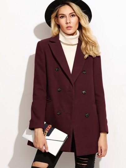 Cappotto con doppio bottone