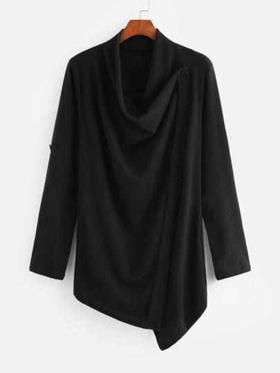 Cardigan détail de drapé en tricot