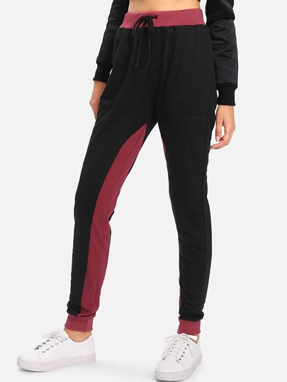 Sweat-pantalons contrasté