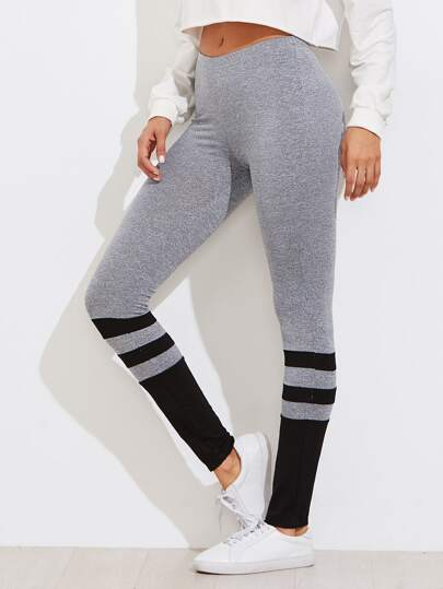 Leggings tricoté rayure