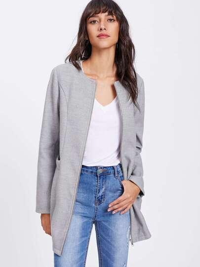 Manteau avec zip avec poche