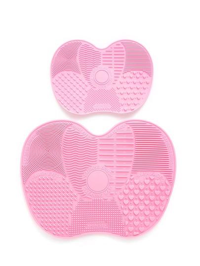 2 piezas de limpiador de pinceles de maquillaje en forma de manzana
