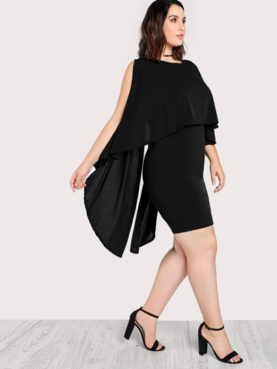 Sleeveless High Low Layered Dress