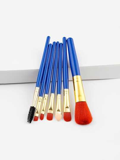 Colorblock Makeup Brush 7pcs