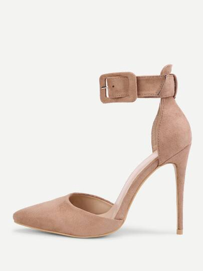 Ankle Strap Pointed Toe Stiletto Pumps
