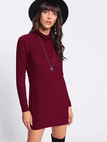 Ribbed Sheath Dress
