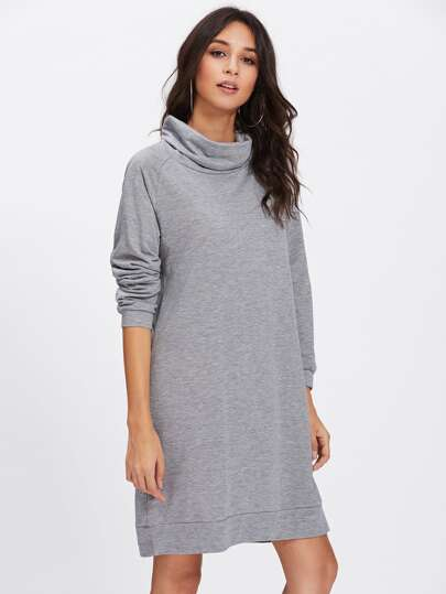 Robe Sweat-shirt avec col haut