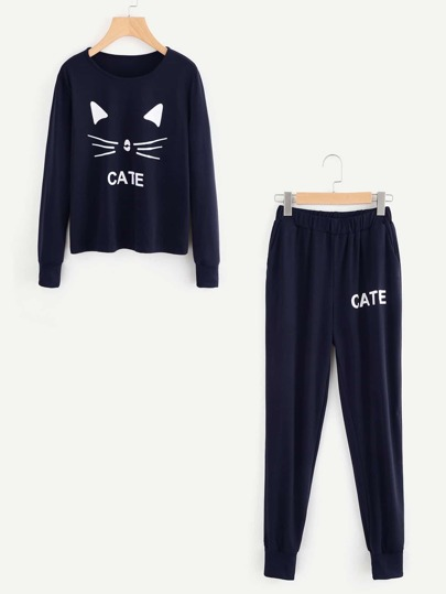 Conjunto con gato