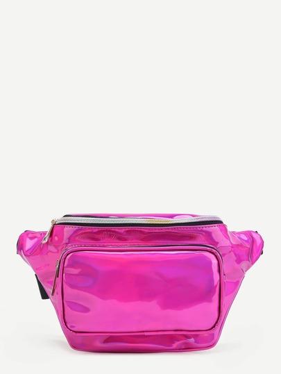 Pocket Front PU Bum Bag