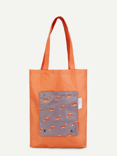 Fox Print Tote Bag