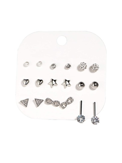 Star & Ball Design Earring Set