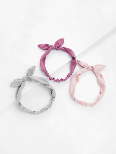 Knot Ear Headband 3pcs