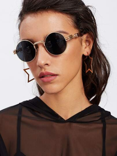 Gafas de sol redondas de marco metálico