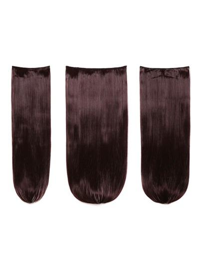 3 piezas de extensión de pelo recto ciruela
