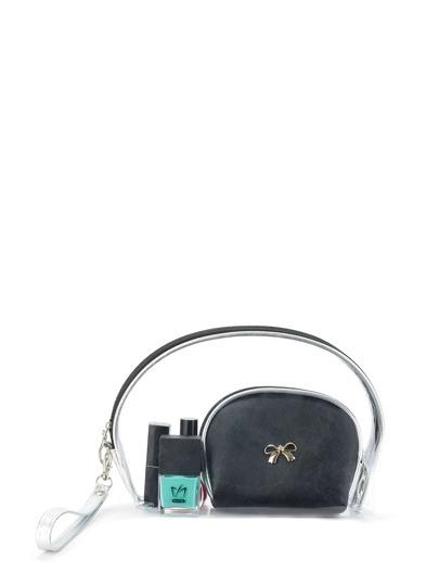 Bow Detail Makeup Bag 3pcs