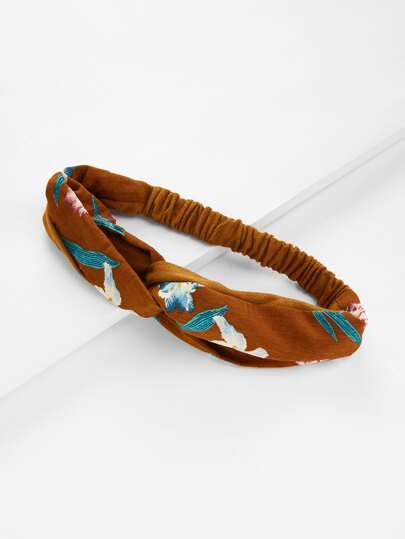 Calico Print Suede Twist Headband
