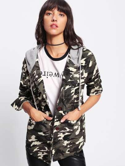 Veste camouflage encapuchonné
