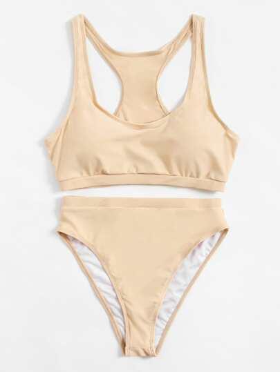 Set de bikini de espalda de nadador