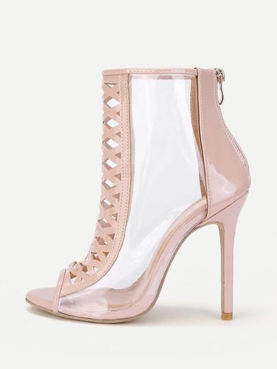Zapatos con tacón con diseño de abertura con diseño transparente