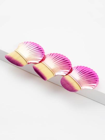 Shell Design Flat Makeup Brush 3pcs