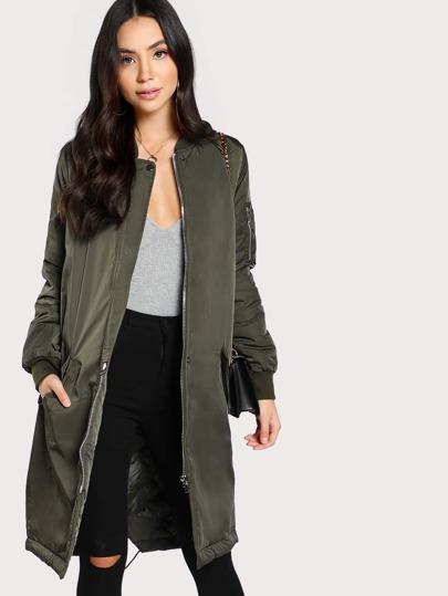 Longline Duffle Coat OLIVE