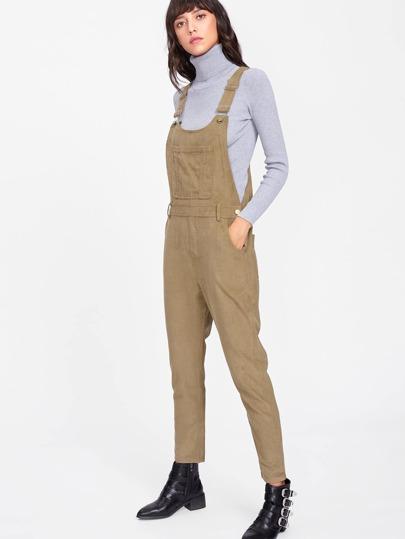 Corduroy Jumpsuit With Pocket