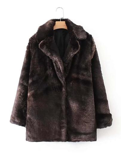 Manteau long avec fourrure fausse