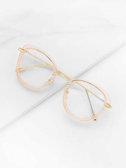 Brille mit transparenter Linse