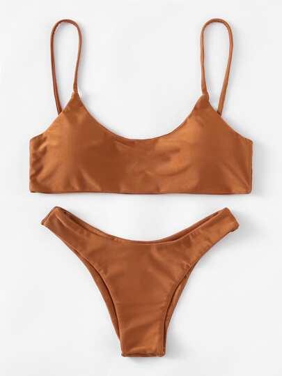 High Leg Cami Bikini Set
