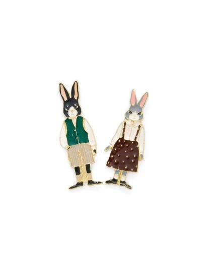 Ensemble de broche design de lapin de l\'animation