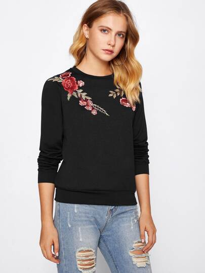Embroidery Patch Pullover