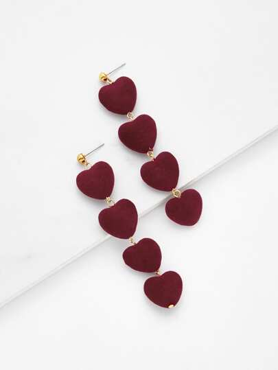 Heart Design Drop Earrings