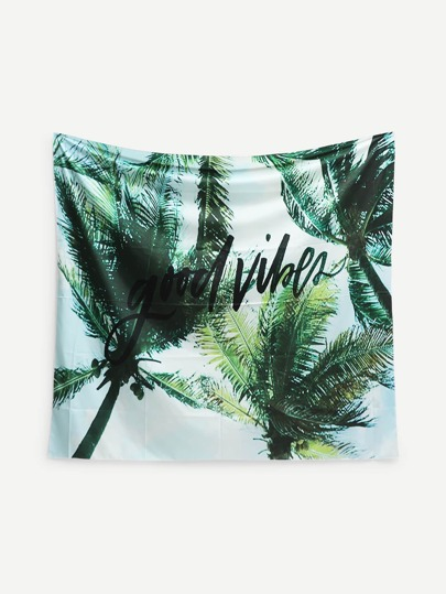 Palm Tree Print Tapestry
