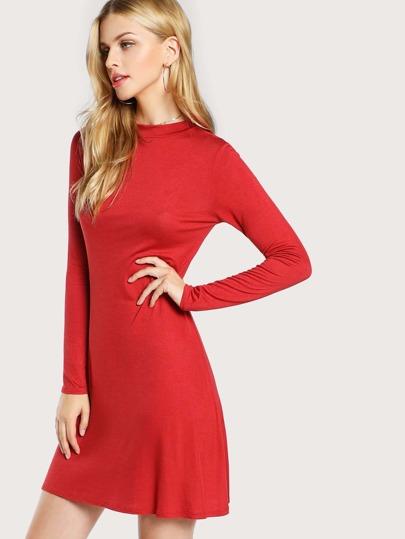 Long Sleeve Mock Neck Dress GINGER